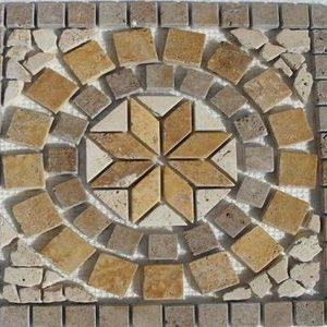 Travertin Bistrita Medalion Mosaic 01