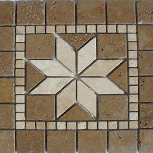Travertin Bistrita Medalion Mosaic 02